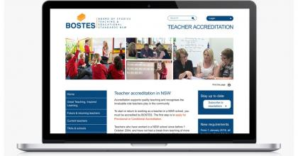 NSW Institute of Teaching Website