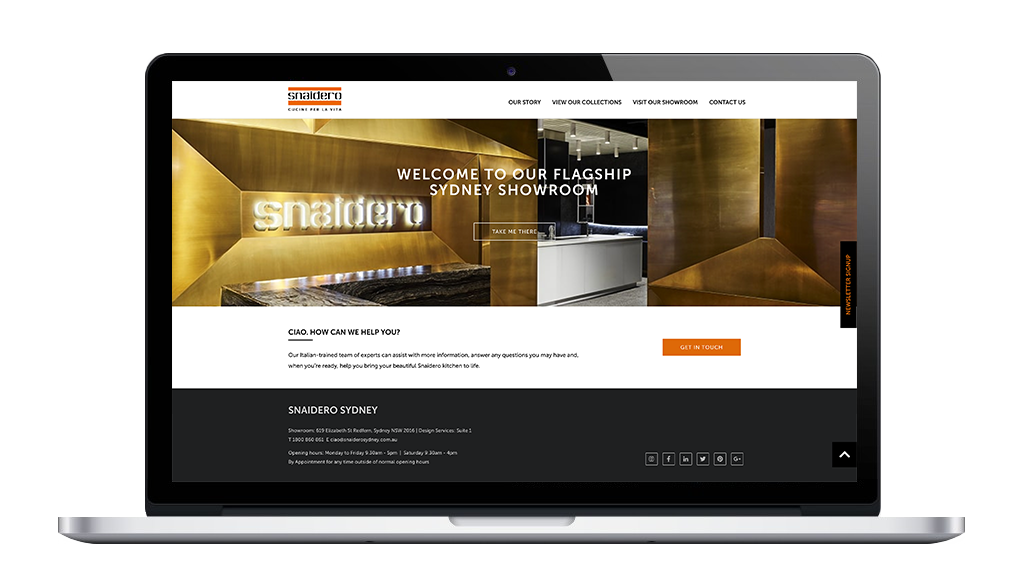 Snaidero Kitchens Drupal Website